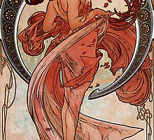 'Dance' by Alphonse Mucha (Reproduction) by Roz Abellera