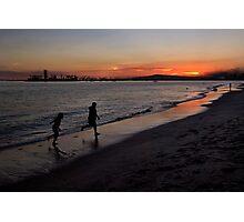 Sunset playtime Photographic Print