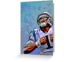 Cam Newton #3 Greeting Card