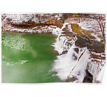 Frozen Upper Cataract Falls Poster