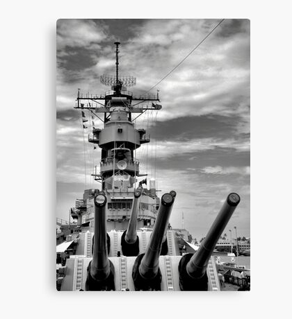 USS Missouri Guns  Canvas Print