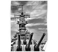 USS Missouri Guns  Poster