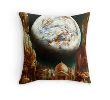 A City in Space, on a Moon the mass of Genemede... Throw Pillow