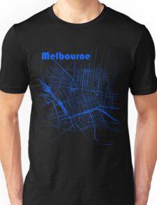 Melbourne Map Unisex T-Shirt