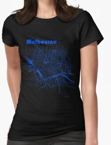 Melbourne Map Womens Fitted T-Shirt