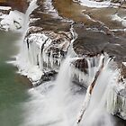Winter Waterfall in Indiana by Kenneth Keifer