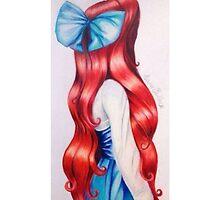 Ariel facing away by Cadalina
