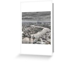 London from Above Greeting Card