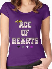 The Ace of Hearts Women's Fitted Scoop T-Shirt
