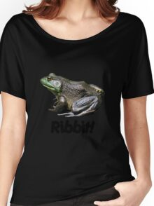 Big Old Bullfrog Ribbit Funny  Women's Relaxed Fit T-Shirt