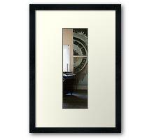 one half in situ Framed Print