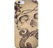 skull doodle / tattoo style iPhone Case/Skin