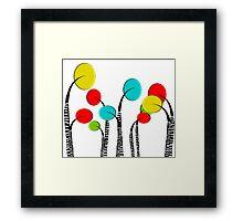 Whimsical Trees Framed Print