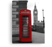 Telephone box in London Canvas Print