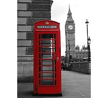 Telephone box in London Photographic Print