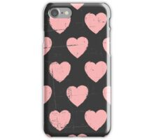 Chalkboard Pink Hearts iPhone Case/Skin