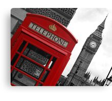Phone box in London Canvas Print