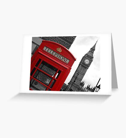 Phone box in London Greeting Card