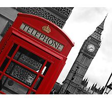 Phone box in London Photographic Print