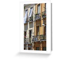 Italian Architecture, Cagliari, Sardinia Greeting Card