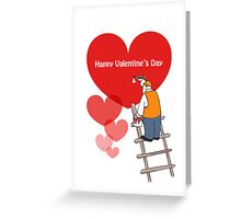 Valentine's Day Cards, Red Hearts Greeting Card