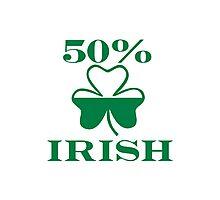 50% Irish shamrock Photographic Print