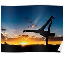 Capoeira Sunset Poster