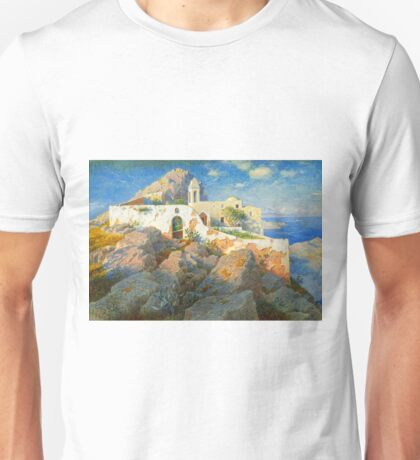 Spanish Villa painting Unisex T-Shirt