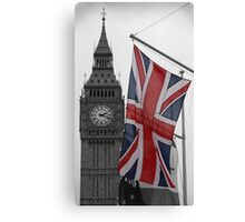 Union Flag & Big Ben Canvas Print