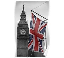 Union Flag & Big Ben Poster