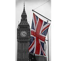 Union Flag & Big Ben Photographic Print