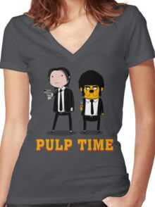 Pulp Time Women's Fitted V-Neck T-Shirt