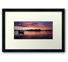 Sunset Before Typhoon Yolanda Framed Print