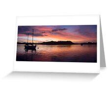 Sunset Before Typhoon Yolanda Greeting Card