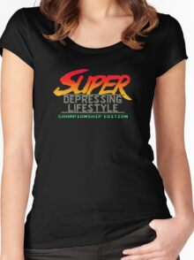 Super Depressing Lifestyle Women's Fitted Scoop T-Shirt