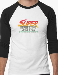 Super Depressing Lifestyle Men's Baseball ¾ T-Shirt