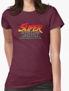 Super Depressing Lifestyle Womens Fitted T-Shirt