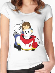 Undertale Sans and Papyrus Women's Fitted Scoop T-Shirt