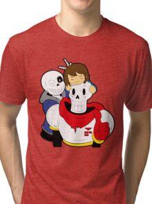 Undertale Sans and Papyrus Tri-blend T-Shirt