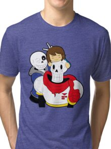 Undertale Sans and Papyrus Tri-blend T-Shirt