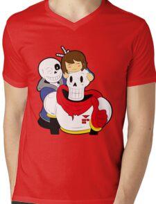 Undertale Sans and Papyrus Mens V-Neck T-Shirt