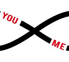 never ending love, infinity sign with text you and me by beakraus