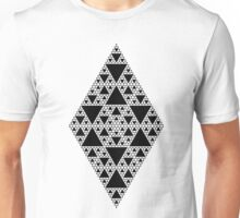 Sierpinski Triangle- Inverted Diamond Unisex T-Shirt