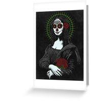 Muerte de mona lisa Greeting Card