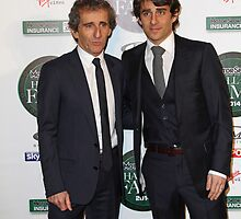 Nicolas Prost & Alain Prost at the MotorSport Hall of Fame, 2014 by Keith Larby