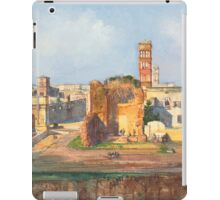 Ruined Landscape painting iPad Case/Skin