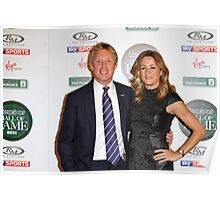 Simon Lazenby & Natalie Pinkham at the Motorsport Hall of Fame, 2014 Poster