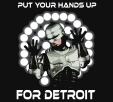 Hands up for detroit by Psychobilly-Tee