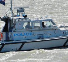 Police Boat Sticker