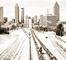Atlanta Snowpocalypse 2014 - Rick Grimes on Freedom Parkway by Tabitha Fringe Chase